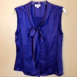 🆕Tahari ASL low bow blouse NWOT
